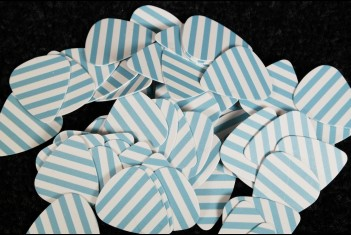 RebelRelic Plectrum White and Blue Stripes