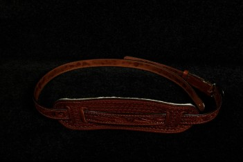 Eldorado Hand-Tooled Guitar Strap Brown - SOLD!
