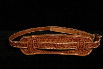 Eldorado Hand-Tooled Guitar Strap Tan