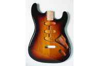 New! Stratocaster N.O.S. Body - Thin poly finish - Alder - 3 Tone Sunburst