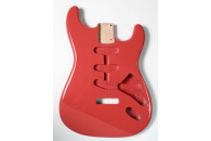 New! Stratocaster N.O.S. Body - Thin poly finish - Alder - Fiesta Red