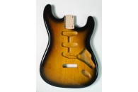 New! Stratocaster N.O.S. body - Thin poly finish - Ash - 2 Tone Sunburst