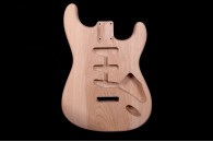 Stratocaster Body three Piece - Unfinished Louisiana Swamp Ash #A2