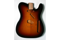 New! Telecaster N.O.S. body - Thin poly finish - Alder - 3 Tone Sunburst - Double Binding