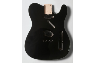 New! Telecaster N.O.S. Body - Thin poly finish - Alder - Black Double Binding