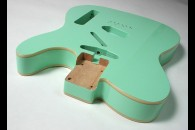 New! Telecaster N.O.S. body - Thin poly finish - Alder - Surf Green - Double Binding