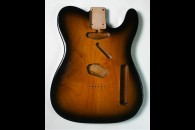 New! Telecaster N.O.S. body - Thin poly finish - Alder - 2 Tone Sunburst