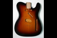 New! Telecaster N.O.S. Body - Thin poly finish - Alder - 3 Tone Sunburst