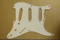 Strat Pickguard 54 Single Ply White