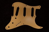 Strat Pickguard 57 Gold Anodized Aluminum - 8 hole