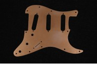 Strat Pickguard 64 Gold Anodized Aluminum 11 Hole