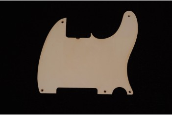 Esquire pickguard 55 Single Ply White