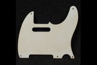 Tele Pickguard 55 Single Ply White