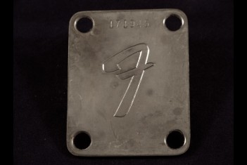 Neck Plate F stamped with serial number