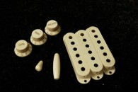 Strat Plastic Parts Full Set 60's Cream