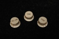 "Strat Knobs 54 Bakelite set. ""Small Skirt""  ""Tall boys"""