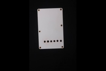 Strat Back Plate 54 White Round Hole