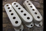 Strat Pickup Covers 50's White