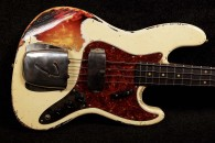 RebelRelic J-Series Bass 61 Olympic White over Sunburst - SOLD!
