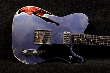 RebelRelic Holy Thinline Ink Blue over Sunburst - SOLD!