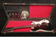 Silvertone Model 1448 from 1960'S Black Sparkle with original Amp case SOLD!