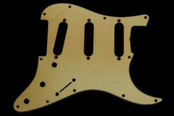 Strat Pickguard 1961/62 Greenish Real Celluloid 2