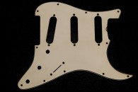 Strat Pickguard 1961/62 Vintage White Real Celluloid SOLD!